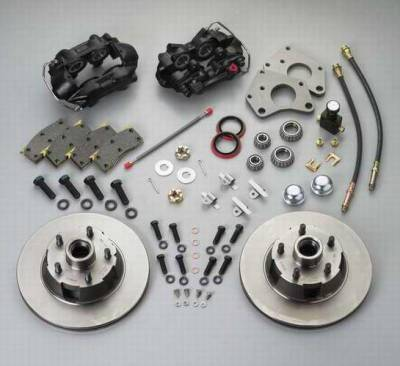 SSBC - SSBC Power Drum to Disc Brake Conversion Kit with 2 Inch Drop Spindles & 2 Piston Aluminum Calipers - Front - A154-1