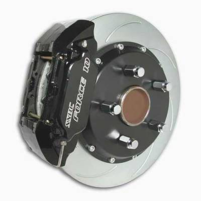 SSBC - SSBC Disc Brake Kit with Force 10 Extreme 4-Piston Aluminum Calipers & 14 Inch Rotors - Front - A158-4