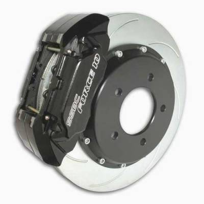SSBC - SSBC Disc Brake Kit with Force 10 Extreme 4-Piston Aluminum Calipers & 14 Inch Rotors - Front - A165