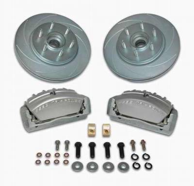 SSBC - SSBC Disc to Disc Upgrade Kit with Force 10 Tri-Power 3-Piston Aluminum Calipers & Stock Size Rotors for 6-Lug Vehicles - Front - A165-2
