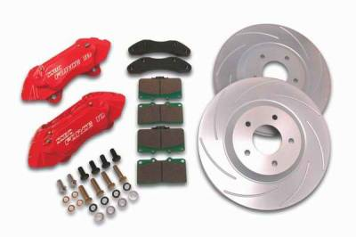 SSBC - SSBC Disc Brake Kit with Force 10 Extreme 4-Piston Aluminum Calipers & 13 Inch Rotors - Front - A166-15