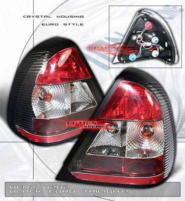 Custom - Euro Red Clear Taillights