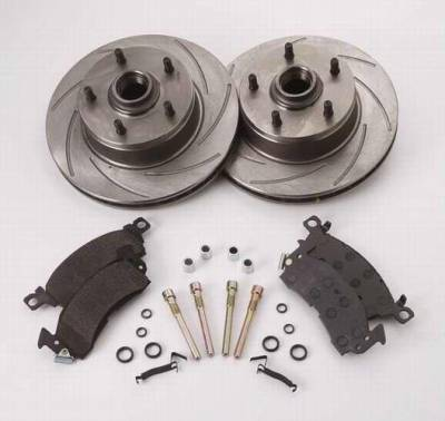 SSBC - SSBC Turbo Slotted Rotors with Xtra Life Plating & Pads  - Rear - A2350014R