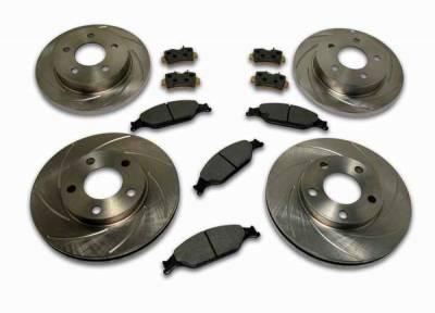 SSBC - SSBC Turbo Slotted Rotors & Pads - Front & Rear - A2360006