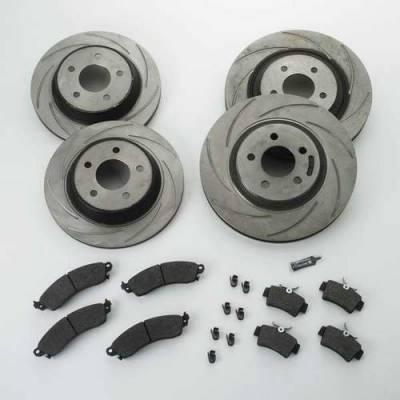 SSBC - SSBC Turbo Slotted Rotors & Pads - Front & Rear - A2360007