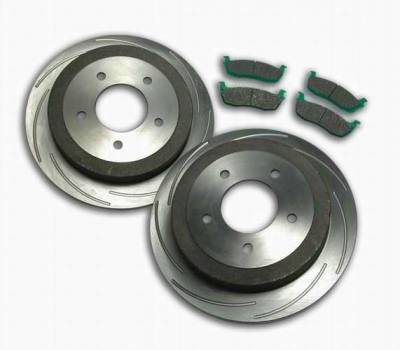 SSBC - SSBC Turbo Slotted Rotors & Pads  - Rear - A2360010