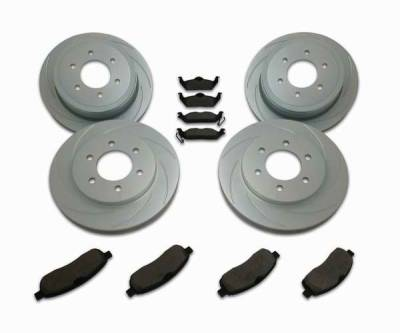 SSBC - SSBC Turbo Slotted Rotors & Pads - Front & Rear - A2361002