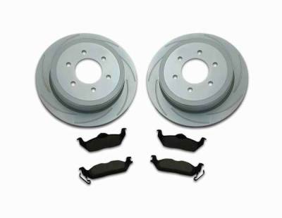 SSBC - SSBC Turbo Slotted Rotors & Pads  - Rear - A2361003