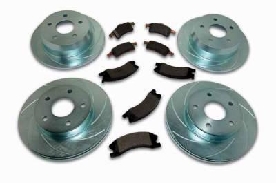 SSBC - SSBC Turbo Slotted Rotors & Pads - Front & Rear - A2370015