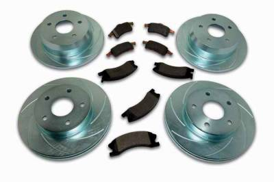 SSBC - SSBC Turbo Slotted Rotors & Pads - Front & Rear - A2370016