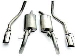 Steeda - Ford Mustang Steeda Stainless Steel Cat-Back Dual Exhaust Kit - 16063