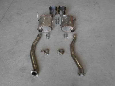 Stainless Works - BMW Z4 Stainless Works Dual Axle-Back Exhaust System - BMWM9802CB