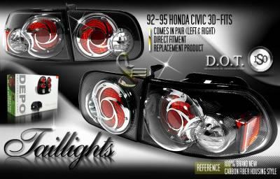 Custom - Carbon Fiber Altezza Taillights