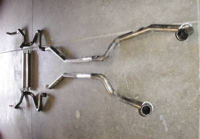 Stainless Works - Chevrolet Camaro Stainless Works Exhaust System - Transverse Muffler - CA6914S