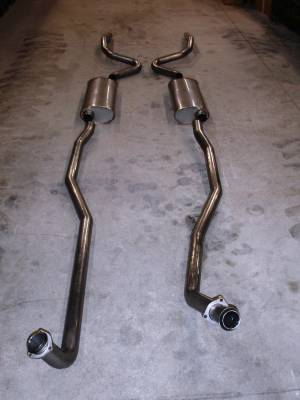 Stainless Works - Chevrolet Chevelle Stainless Works Exhaust System - Dual Muffler without Resonator - CV69BB0S