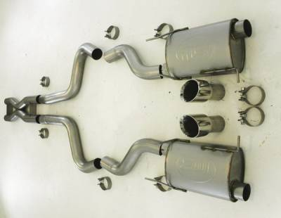 Stainless Works - Ford Mustang Stainless Works Dual Catback Exhaust System - M11CB3