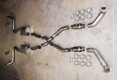 Stainless Works - Ford Mustang Stainless Works Exhaust System - MC03MCAT