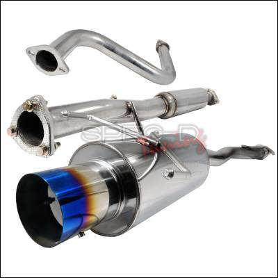 Spec-D - Honda Accord Spec-D N1 Style Catback Exhaust with Burnt Tip - MFCAT2-ACD90T-SD