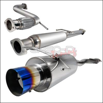 Spec-D - Honda Accord Spec-D N1 Style Catback Exhaust with Burnt Tip - MFCAT2-ACD94T-SD