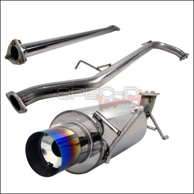 Spec-D - Honda Accord Spec-D N1 Style Catback Exhaust with Burnt Tip - MFCAT2-ACD982T-SD