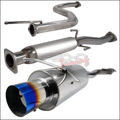 Spec-D - Honda Civic Spec-D N1 Style Catback Exhaust with Burnt Tip - MFCAT2-CV923T-SD