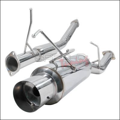 Spec-D - Nissan 240SX Spec-D N1 Style Catback Exhaust - MFCAT3-240SX89