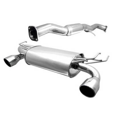 Spyder Auto - Nissan 350Z Spyder Dual Tip Cat-Back Exhaust - YZ-CB-3151330
