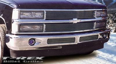 T-Rex - Chevrolet Silverado T-Rex Phantom Billet Grille Insert - 7 Bars - 20060