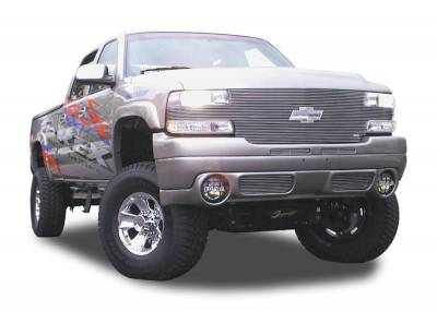 T-Rex - Chevrolet Silverado T-Rex Full Face Billet Grille with Bowtie Installed - 25 Bars - 20082