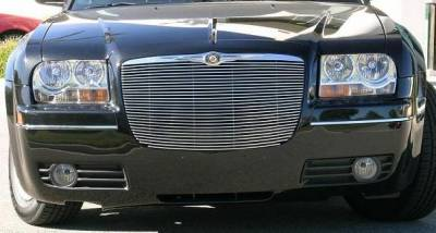T-Rex - Chrysler 300 T-Rex Billet Grille Insert with Polished Billet Molding - 28 Bars - 20472