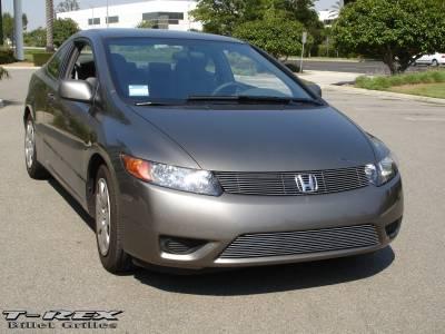 T-Rex - Honda Civic 2DR T-Rex Billet Grille Insert - 10 Bars - 20736