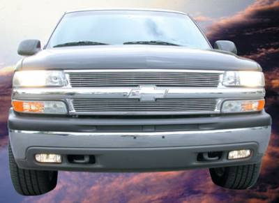 T-Rex - Chevrolet Silverado T-Rex Billet Grille Overlay - Bolt On - 7 Bars - 2PC - 21075