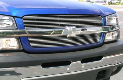 T-Rex - Chevrolet Silverado T-Rex Billet Grille Overlay - Bolt On & Insert - 2PC - 21100