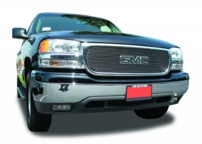T-Rex - GMC Yukon T-Rex Billet Grille Overlay - Bolt On with Logo Opening - 20 Bars - 21175