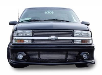 T-Rex - Chevrolet S10 T-Rex Billet Grille Overlay - Bolt On - 2PC - 21276