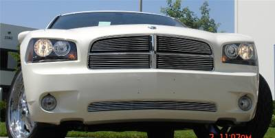 T-Rex - Dodge Charger T-Rex Billet Grille Overlay - Bolt On - 7 Bars - 4PC - 21474