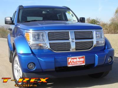 T-Rex - Dodge Nitro T-Rex Billet Grille Overlay - Bolt On - 4PC - 21478