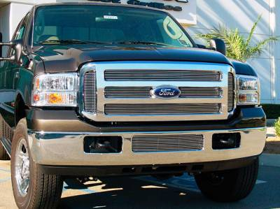 T-Rex - Ford Superduty T-Rex Billet Grille Overlay - Bolt On - 6 Bars - 6PC - 21562