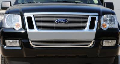 T-Rex - Ford Expedition T-Rex Billet Grille Overlay - Bolt On with Logo Cut Out - 21662