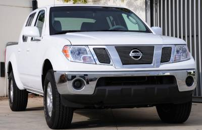 T-Rex - Nissan Frontier T-Rex Billet Grille Overlay - Bolt On with Logo Opening - 3PC - 21774