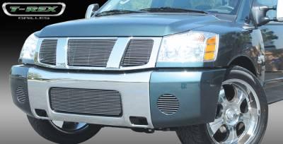 T-Rex - Nissan Titan T-Rex Billet Grille Overlay - Bolt On - 3PC - 21780
