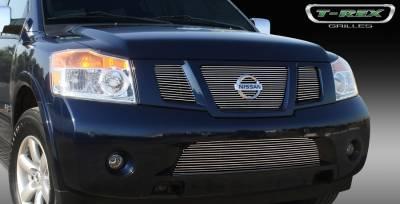 T-Rex - Nissan Armada T-Rex Billet Grille Overlay - Bolt On Insert - 3PC - 21782