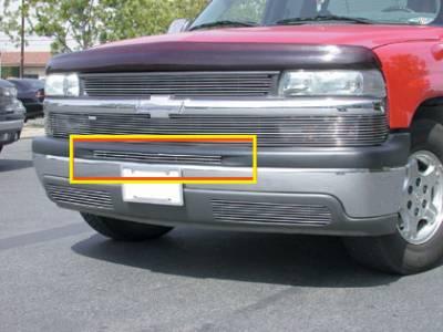 T-Rex - Chevrolet Silverado T-Rex Bumper Billet Grille Top Pad Insert - 3 Bars - 1PC - 25076