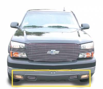 T-Rex - Chevrolet Silverado T-Rex Bumper Air Dam - Tow Hooks Billet Grille Insert - 2PC - 25100