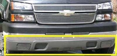 T-Rex - Chevrolet Silverado T-Rex Bumper Air Dam Grille - Fog Lamps Billet Insert - 2PC - 25101