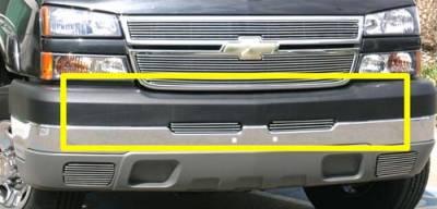 T-Rex - Chevrolet Silverado T-Rex Bumper Billet Grille Top Pad Insert - 3 Bars - 2PC - 25103