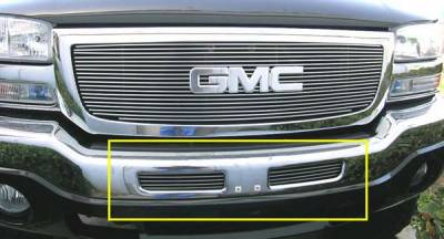 T-Rex - GMC Sierra T-Rex Bumper Billet Grille Insert - Top Bumper Openings - 5 Bars - 2PC Style - 25201