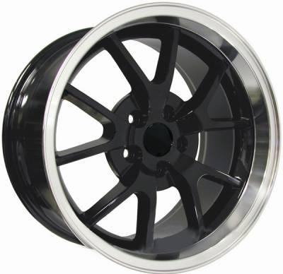 AM Custom - Ford Mustang Black Deep Dish FR500 Wheel