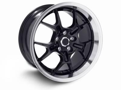 AM Custom - Ford Mustang Black Deep Dish GT4 Wheel