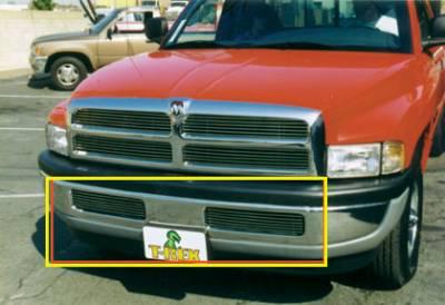 T-Rex - Dodge Ram T-Rex Bumper Billet Grille Insert - 6 Bars - 25440